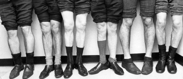 NOT AVAILABLE FOR GREETINGS CARDS A line up for a knobbly knees competition