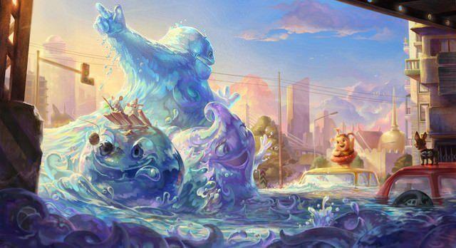 cartoon-tsunami-sea-wave-creature-funny-photoshop-painting-art